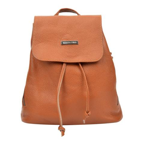 Renata Corsi Tan Leather Backpack