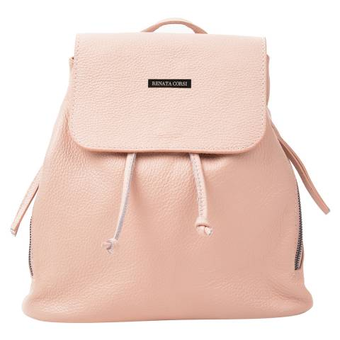 Renata Corsi Pink Leather Backpack