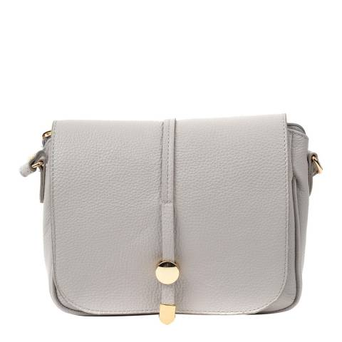Renata Corsi Grey Leather Shoulder Bag