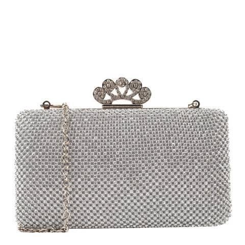 Renata Corsi Silver Gemstone Clutch Bag