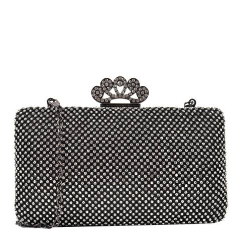 Renata Corsi Black Gemstone Clutch Bag