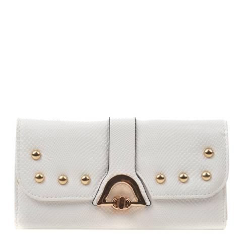 Renata Corsi White Leather Flap Over Wallet