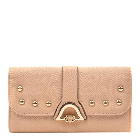 Renata Corsi Beige Leather Flap Over Wallet