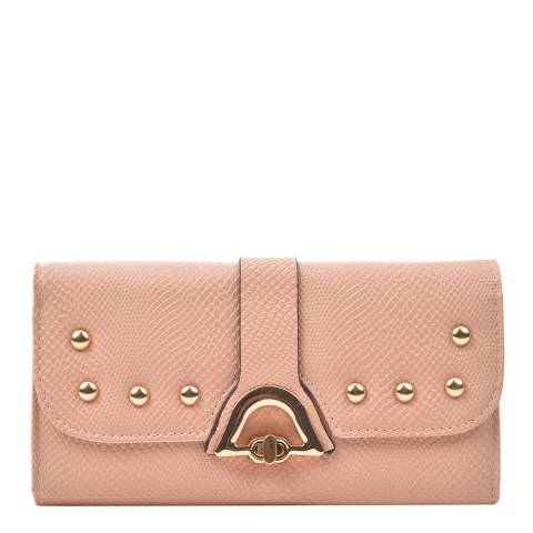Renata Corsi Pink Leather Flap Over Wallet