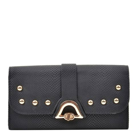 Renata Corsi Black Leather Flap Over Wallet
