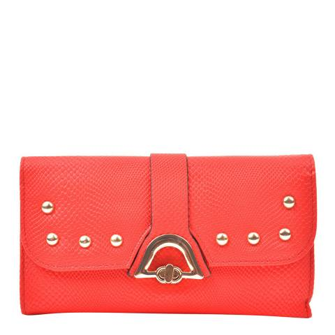 Renata Corsi Red Leather Flap Over Wallet