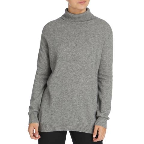 Scott & Scott London Grey Sophie Cashmere Roll Neck