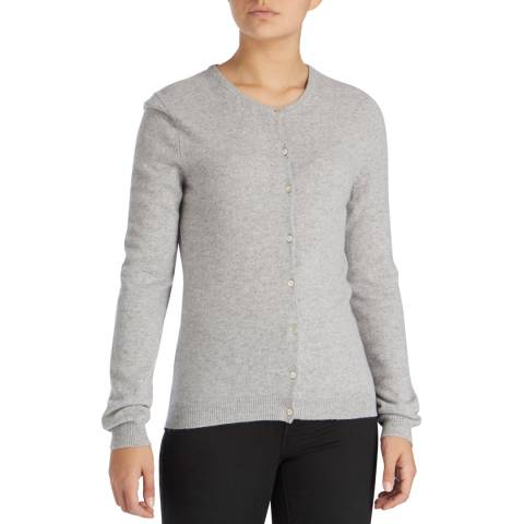 Scott & Scott London Grey Classic Cashmere Cardigan