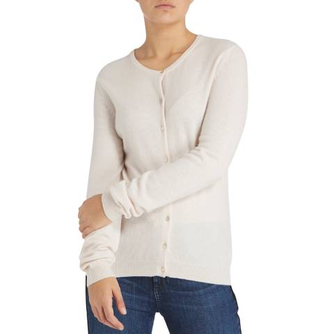 Scott & Scott London Light Pink Classic Cashmere Cardigan