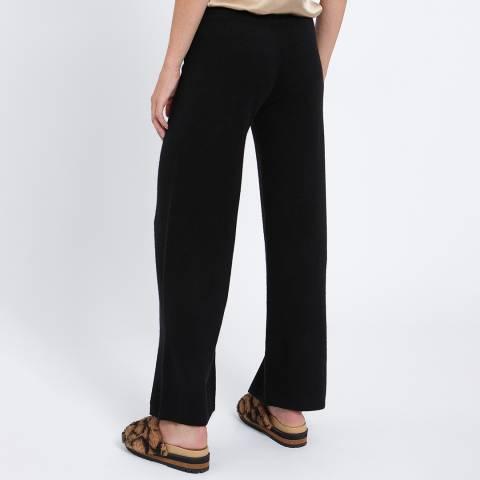 Scott & Scott London Black Wide Leg Cashmere Trouser