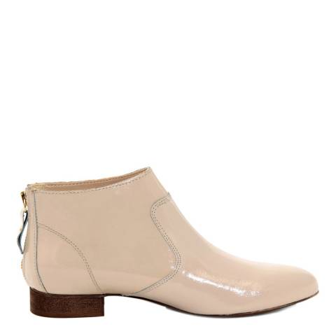 Eye Beige Patent Leather Ankle Boot