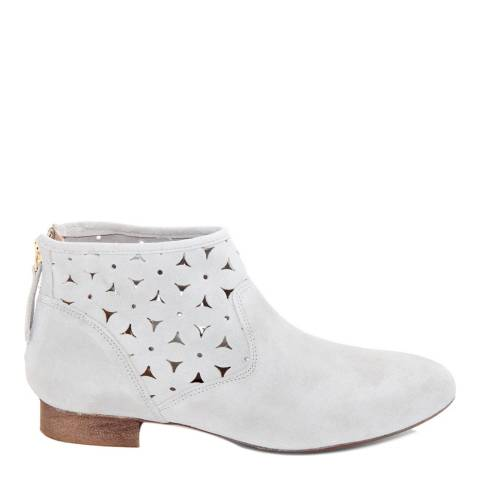Eye Off White Suede Patterned Ankle Boot