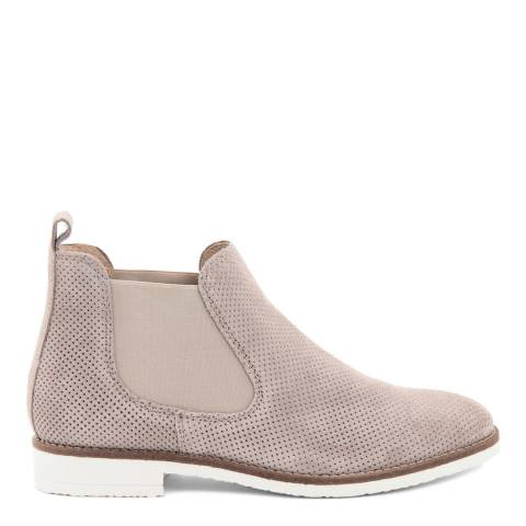 Eye Taupe Perforated Suede Chelsea Boot