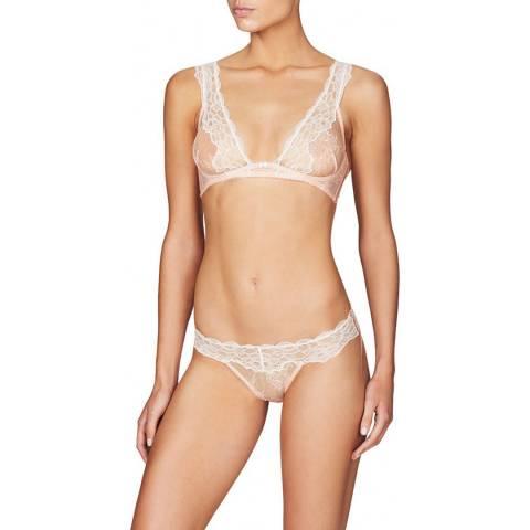Heidi Klum Intimates Pink/White Primrose Demi Wire Bra