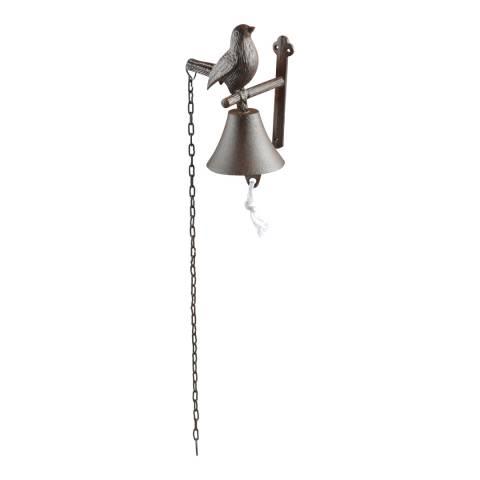 Fallen Fruits Cast Iron Bird Door Bell with Chain