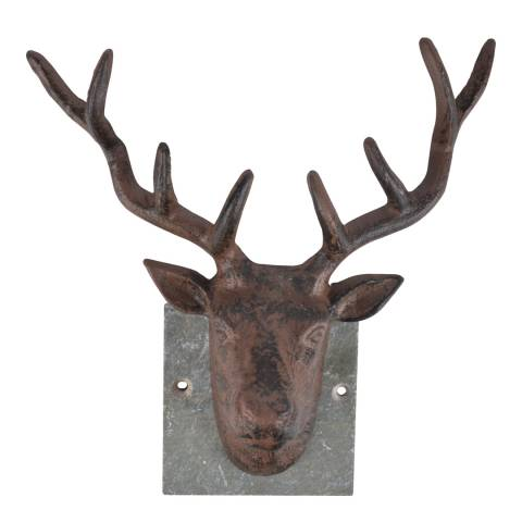 Fallen Fruits Cast Iron Deer Wall Decoration on Slate