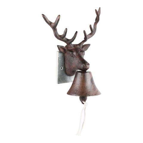 Fallen Fruits Cast Iron Deer Doorbell on Slate