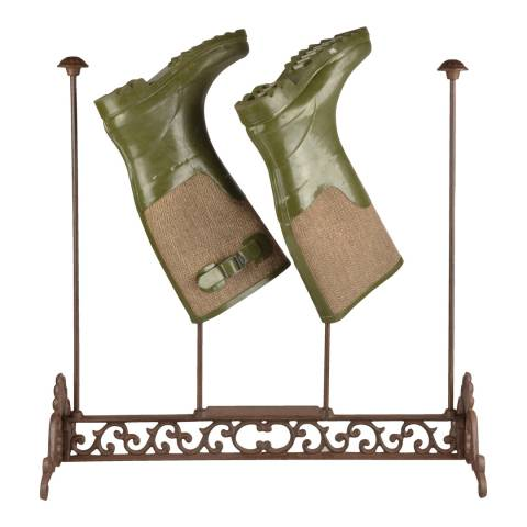 Fallen Fruits Cast Iron Ornate Boot Rack