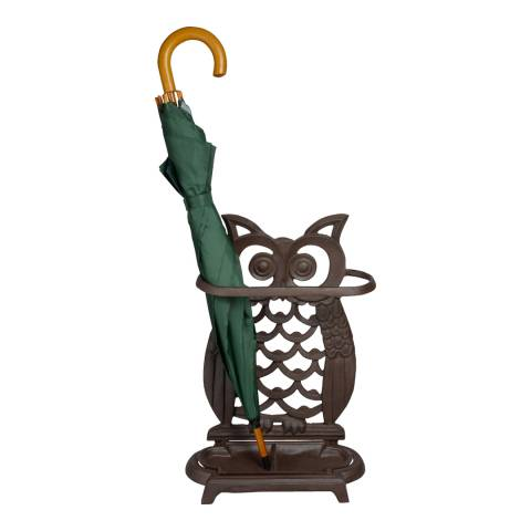 Fallen Fruits Cast Iron Owl Umbrella Stand