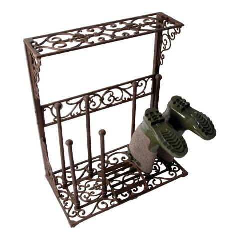 Fallen Fruits Large Ornate Cast Iron Boot Rack