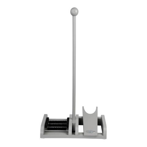 Fallen Fruits Grey Wooden Boot Brush & Boot Jack on Pole