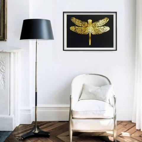 Hoxton Art House Golden Wings, Gold Leaf Paper Print, 30x42cm