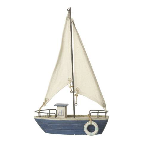 Parlane Blue/White Boat with Sail Ornament