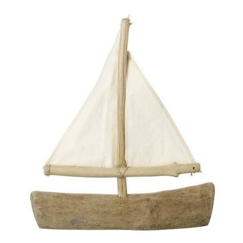 Parlane Natural Barnaby Boat Ornament
