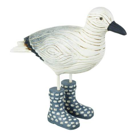 Parlane White/Grey Seagull with Wellies Ornament