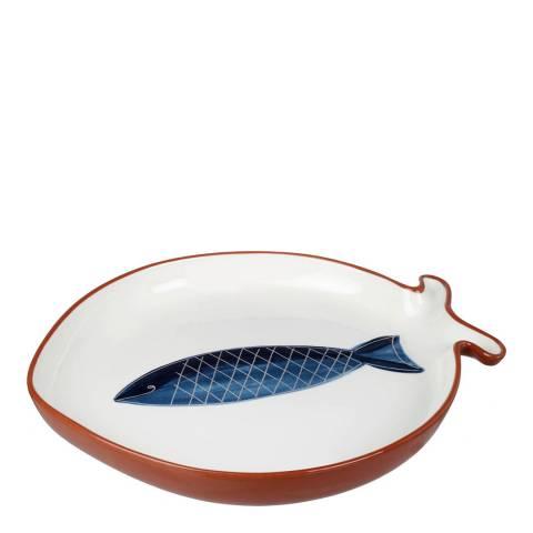 Parlane White/Blue Pisces Platter