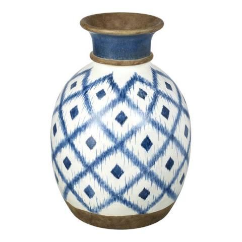 Parlane White/Blue Mykinos Small Vase