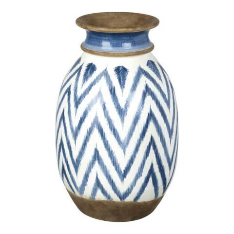 Parlane White/Blue Mykinos Large Vase