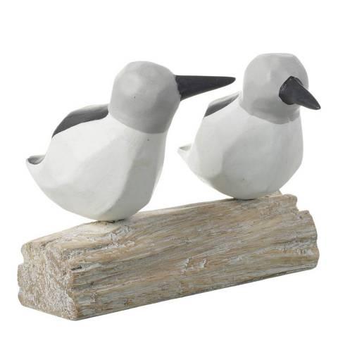 Parlane Black/White Boscastle Bird Ornament