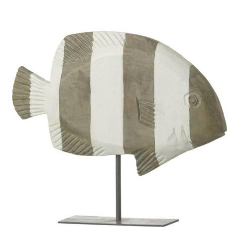 Parlane Natural/White Fish Reef Mango Wood Ornament