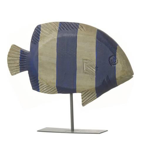 Parlane Natural/Blue Fish Reef Mango Wood Ornament