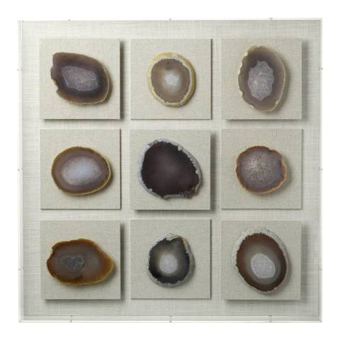 Parlane Black/White Agate Wall Art