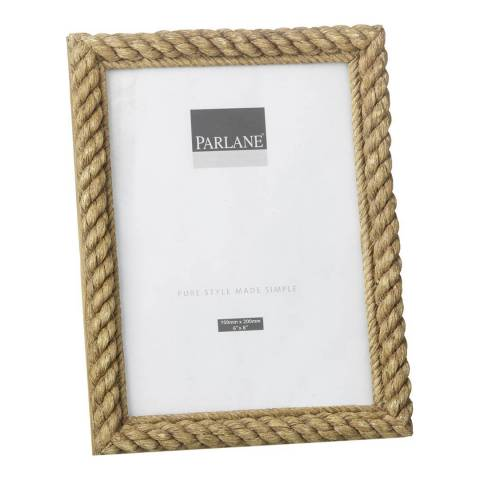 Parlane Brown Rope 6x8 Photo Frame