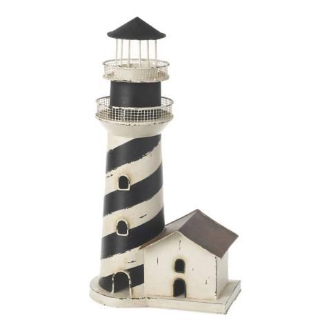 Parlane Dark Blue/White Lighthouse Ornament