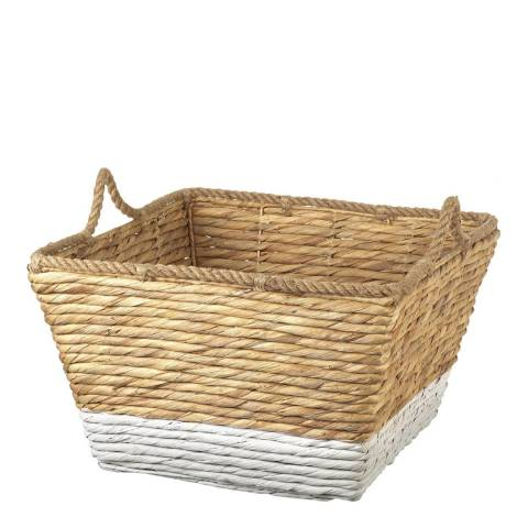Parlane Natural/White Burton Large Basket