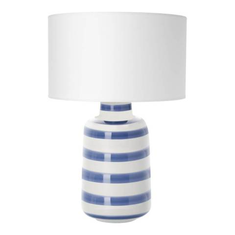 Parlane Blue/White Talya Table Lamp