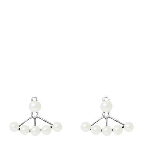 Mitzuko Natural White Silver Freshwater Pearl Earrings