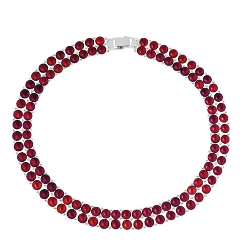 Mitzuko Cherry Red Freshwater Pearl Necklace