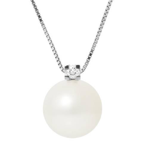 Mitzuko White Silver Freshwater Pearl Necklace
