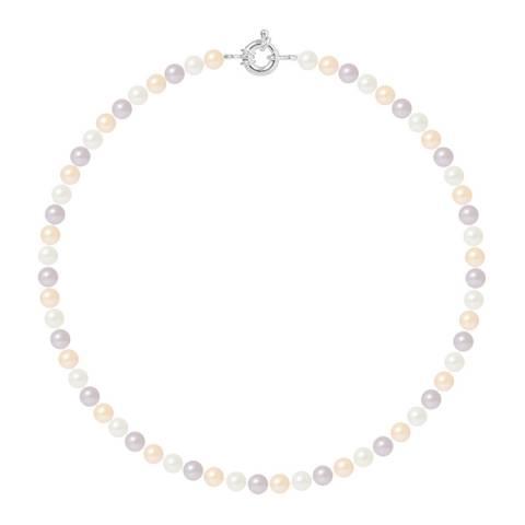 Mitzuko Multi Silver Freshwater Pearl Necklace