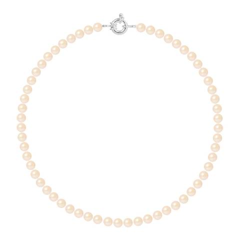 Mitzuko Rose/Pink Silver Freshwater Pearl Necklace