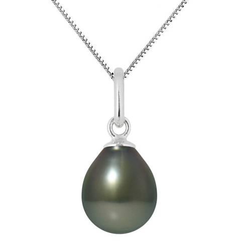 Mitzuko Black Tahiti White Gold Pearl Pendant