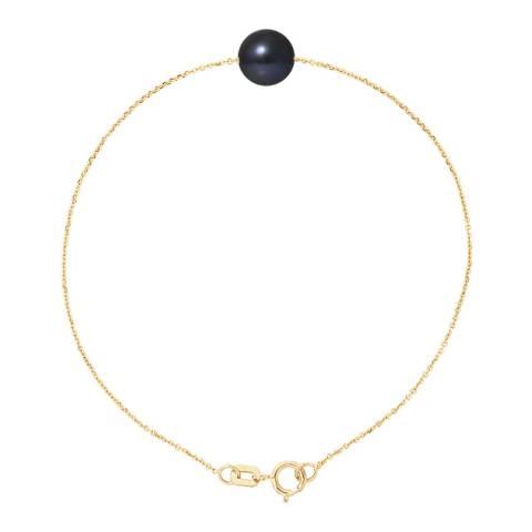 Mitzuko Black Tahiti Yellow Gold Freshwater Pearl Bracelet