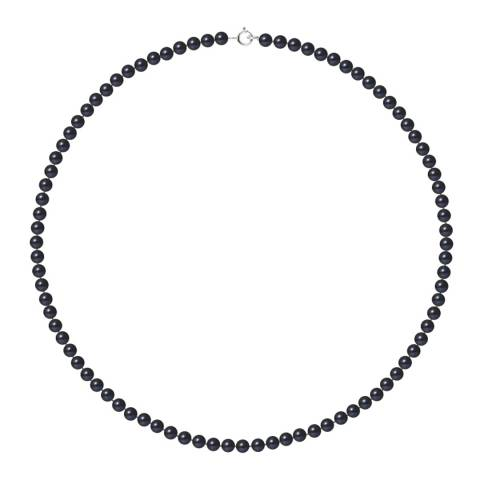 Mitzuko Black Tahiti White Gold Freshwater Pearl Necklace