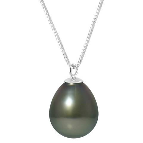 Mitzuko Black/Yellow Gold Tahiti Pearl Necklace