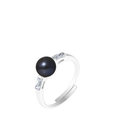 Mitzuko Black Tahiti Silver Freshwater Pearl Ring